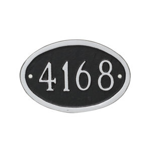Classic Oval Mini Address Sign Plaque