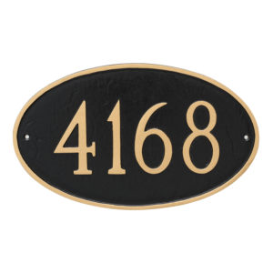 Classic Oval Large Address Sign Plaque
