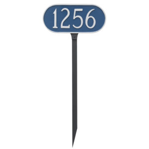 Oblong Address Sign Plaque with Lawn Stakes