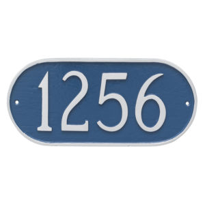 Oblong Address Sign Plaque