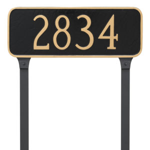 Rectangle Address Plaque Sign with Stakes