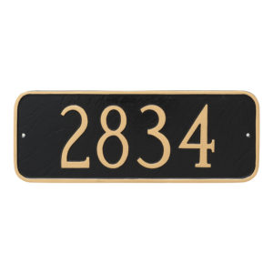Rectangle Address Plaque Sign