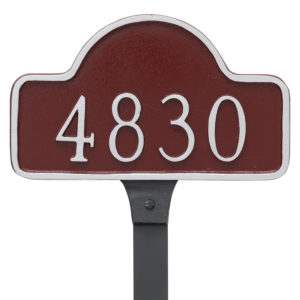 Petite Lexington Arch Address Sign Plaque with Lawn Stake
