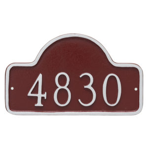 Petite Lexington Arch Address Sign Plaque