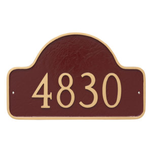 Large One Line Lexington Arch Address Sign Plaque
