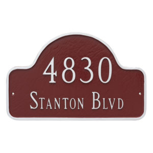 Standard Two Line Lexington Arch Address Sign Plaque
