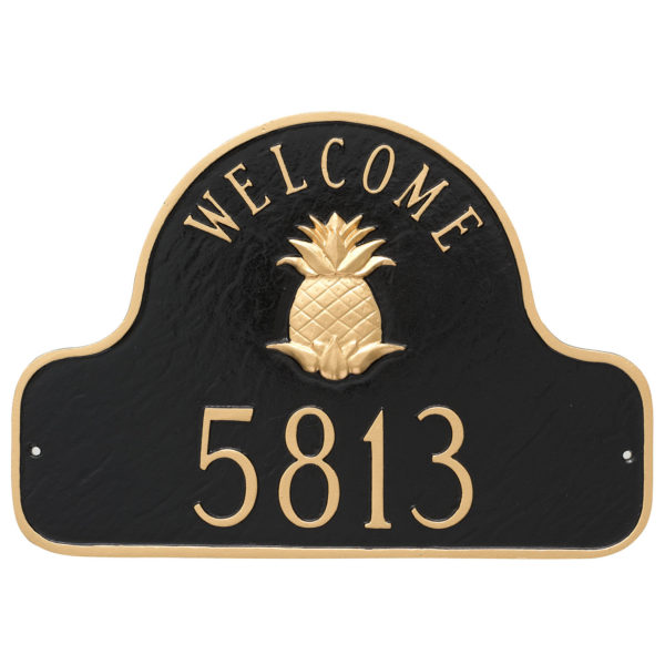 Pineapple Welcome Arch Address Sign Plaque