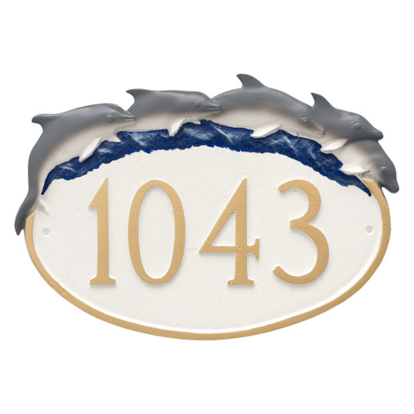 Dolphin Address Sign Plaque