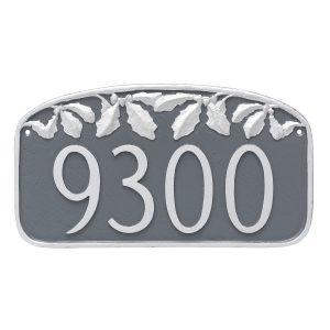 Oak Leaf Address Sign Plaque