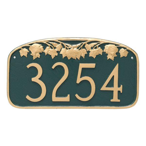 Maple Leaf Address Sign Plaque