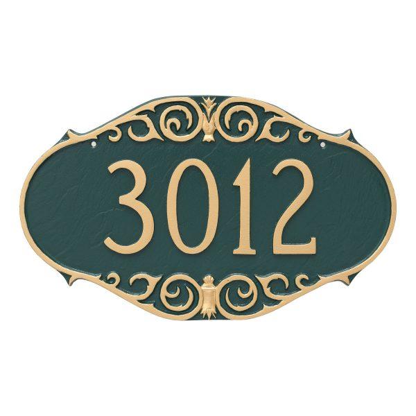 Victorian Address Sign Plaque