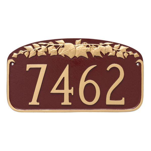 Ivy Leaf Address Sign Plaque