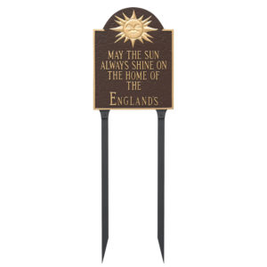 Home of Wedding Anniversary Sign Plaque with Lawn Stakes