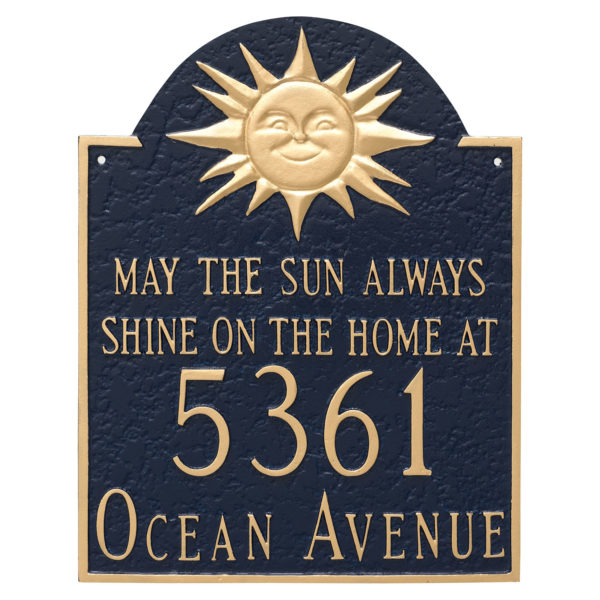 Home at Wedding Anniversary Address Sign Plaque