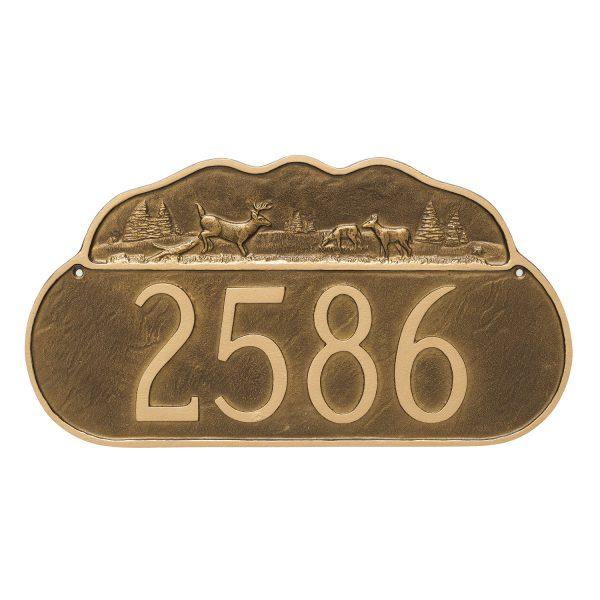 Deer Address Sign Plaque