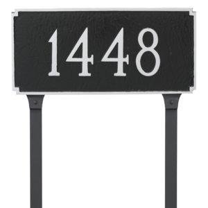 Madison Standard One Line Address Sign Plaque with Lawn Stakes