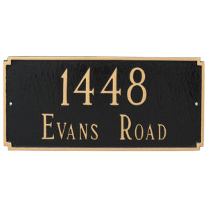 Madison Estate Two Line Address Sign Plaque