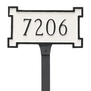 New Yorker Petite Address Sign Plaque with Lawn Stakes