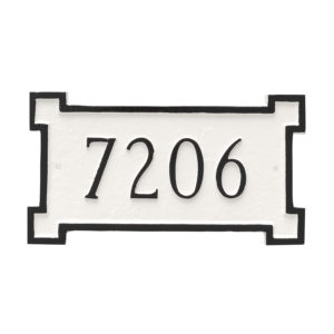New Yorker Petite Address Sign Plaque