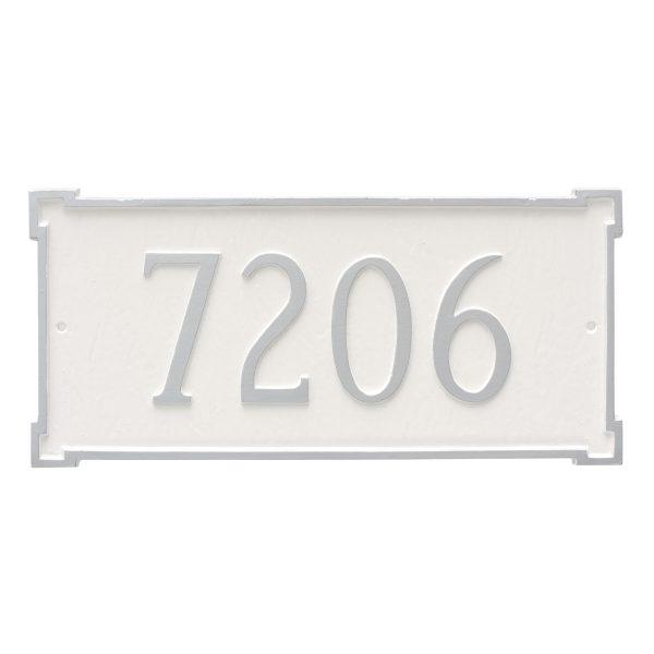 New Yorker Estate One Line Address Sign Plaque