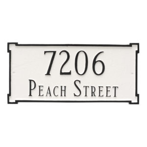 New Yorker Estate Two Line  Address Sign Plaque