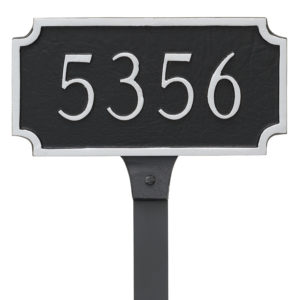 Princeton Petite Address Sign Plaque with Lawn Stakes
