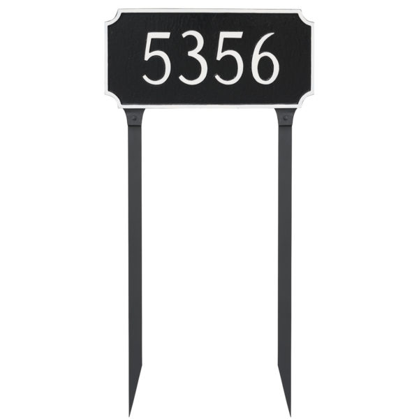 Princeton Standard One Line Address Sign Plaque with Lawn Stakes