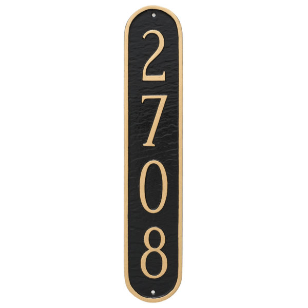Oblong Column Address Sign Plaque