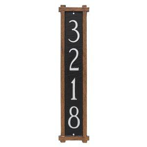 Mission Oak Column Address Sign Plaque