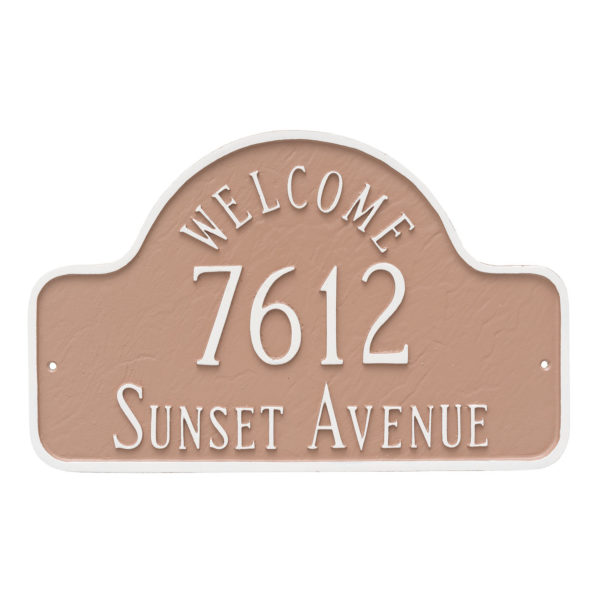 Welcome Arch Estate Address Sign Plaque