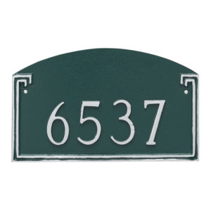 Georgetown Petite Address Sign Plaque