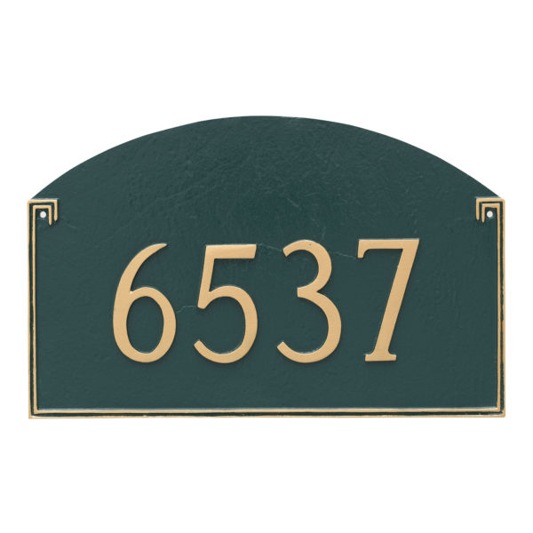Georgetown Estate One Line Address Sign Plaque