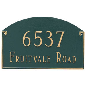Georgetown Estate Two Line Address Sign Plaque