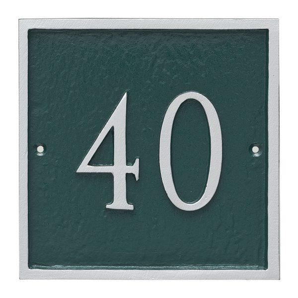 Classic Square Petite Address Sign Plaque
