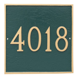 Classic Square Grande One Line Address Sign Plaque