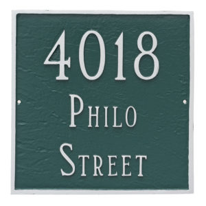 Classic Square Large Two Line Address Sign Plaque