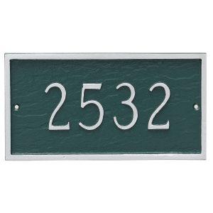 Classic Rectangle Petite Address Sign Plaque