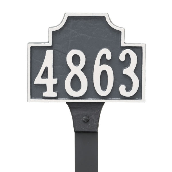 Beckford Petite Address Sign Plaque with Lawn Stake