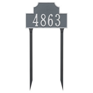 Beckford Estate One Line Address Sign Plaque with Lawn Stakes