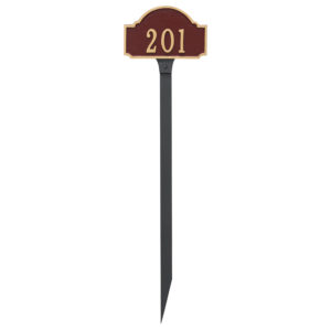 Fitzgerald Petite Address Sign Plaque with Lawn Stake