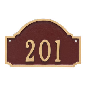 Fitzgerald Petite Address Sign Plaque