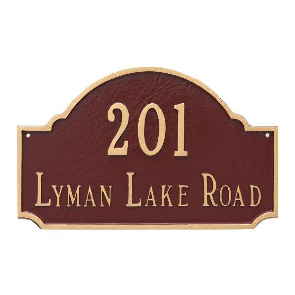 Fitzgerald Estate Two Line Address Sign Plaque
