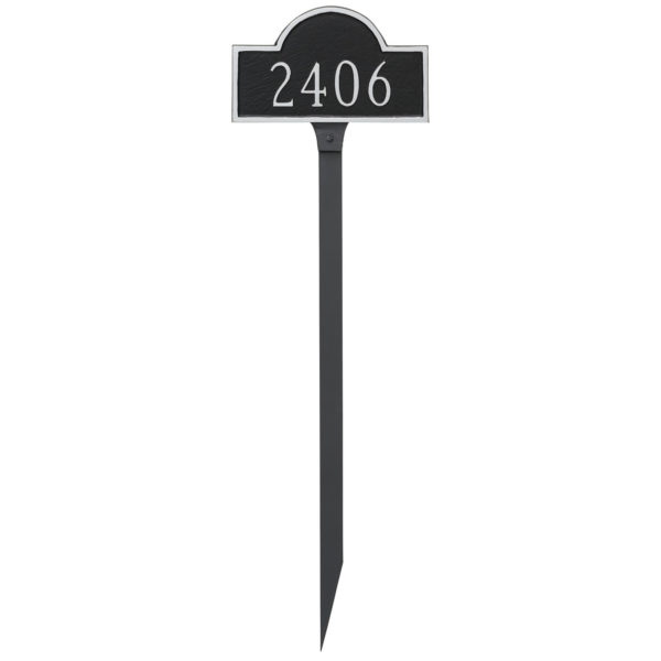 Classic Arch Petite Address Sign Plaque with Lawn Stake