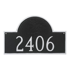 Classic Arch Large One Line Address Sign Plaque