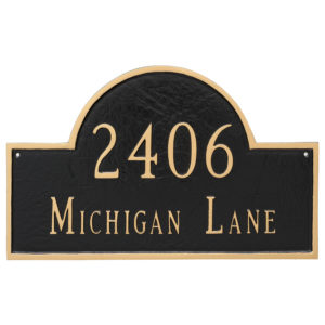 Classic Arch Standard Two Line Address Sign Plaque
