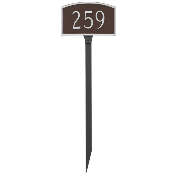 Prestige Arch Petite Address Sign Plaque with Lawn Stake