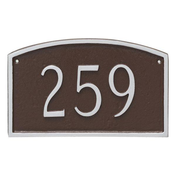 Prestige Arch Petite Address Sign Plaque