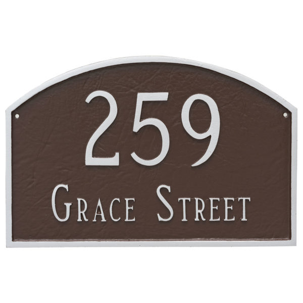 Prestige Arch Large Two Line Address Sign Plaque