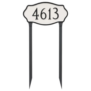 Hampton Estate Address Plaque with Lawn Stakes