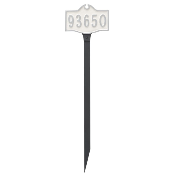 Colonial Petite Address Sign Plaque with Lawn Stake